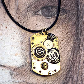 B4Fz0-031 Steampunk Pendant pieces oand gears of clock and watches