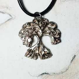 a41b4-050 Pendant little celtic-no archeological white bronze Yggdrasil, the celtic tree o