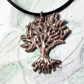 a42b5-029 Pendant little bronze Yggdrasil, the celtic tree of life