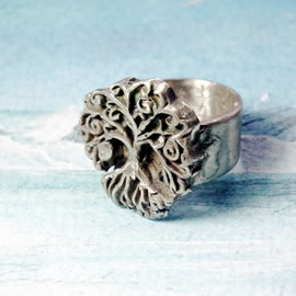 a91b-031 Silvercolour bronze  yggdrasil celtic on commission to your size