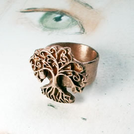 a93b-008 Copper yggdrasil celtic on commission to your size
