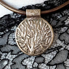 a42b0-044 Pendant Yggdrasil, celtic tree of life  in  goldy or white bronze or copper